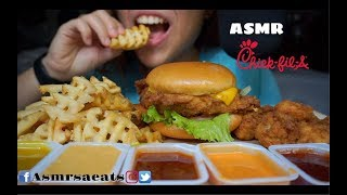 Asmr Chick-Fil-A Deluxe Meal (Extreme Eating Sounds) Asmr SA Eats