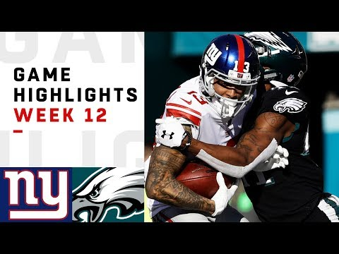 Giants vs. Eagles Week 12 Highlights | NFL 2018