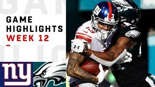 Giants Vs Eagles Week 12 Highlights Nfl 2018
