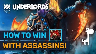 How To Force Losing Streak & Win With ★★★ Assassins! | Dota Underlords