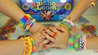 обзор набора Rainbow Loom и ароматных, ярких резинок. Weaving gum