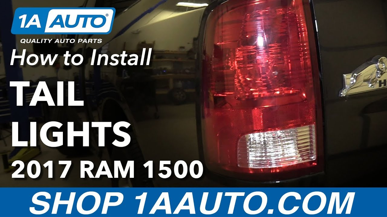 How To Install Replace Tail Lights 2013 18 Ram 1500 Youtube 2012 Dodge Break