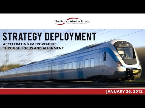 Strategy Deployment - Accelerating Improvement Through Focus and Alignment