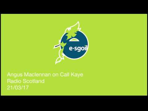 Angus MacLennan, HT of e-Sgoil, interview with Kaye Adams BBC Scotland 21.3.17