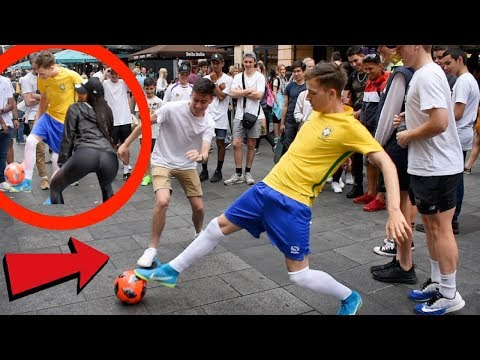 PLAYING FOOTBALL LIKE NEYMAR IN PUBLIC !? (DIVES & NUTMEGS) *CRAZY REACTIONS*