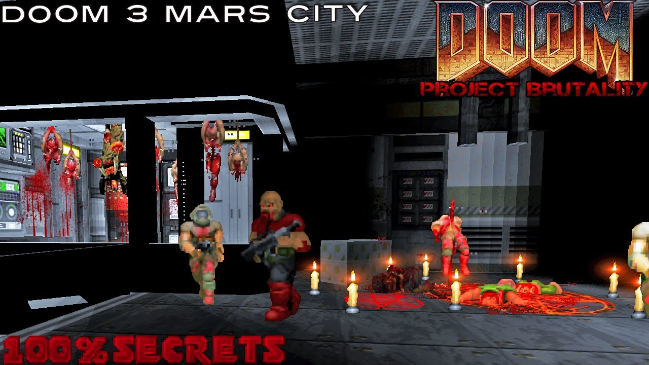 PROJECT BRUTALITY 3 0 - E1M1 Mars City, Doom 3 Style Remake