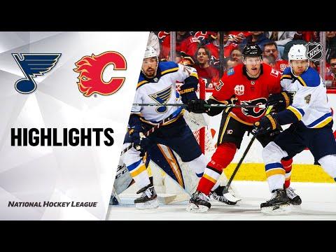 NHL Highlights   Blues @ Flames 1/28/20