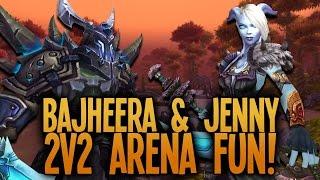 Bajheera & Jenny - Epic Warrior/Disc 2v2 Arena Session :D - Level 100 Fury Warrior PvP