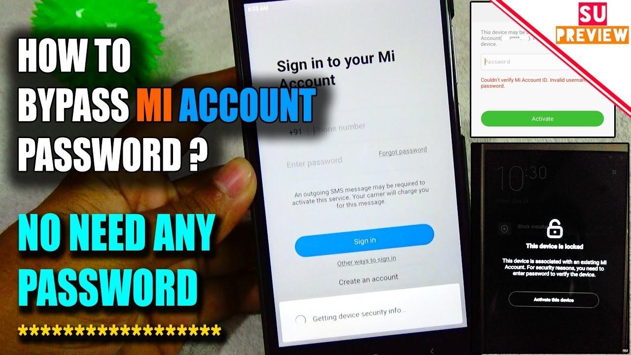 Forgot Mi Account Password How To Bypass Mi Account Full