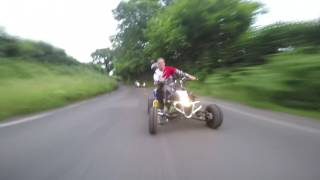 GoPro Chase Cam Suzuki Ltr 450 Country Roads Quad Bike Uk
