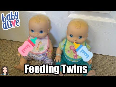 Feeding Baby Alive Twins Lousille & Liam! | Kelli Maple
