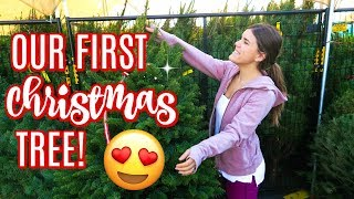 GETTING OUR FIRST CHRISTMAS TREE! Vlogmas Day 1!!