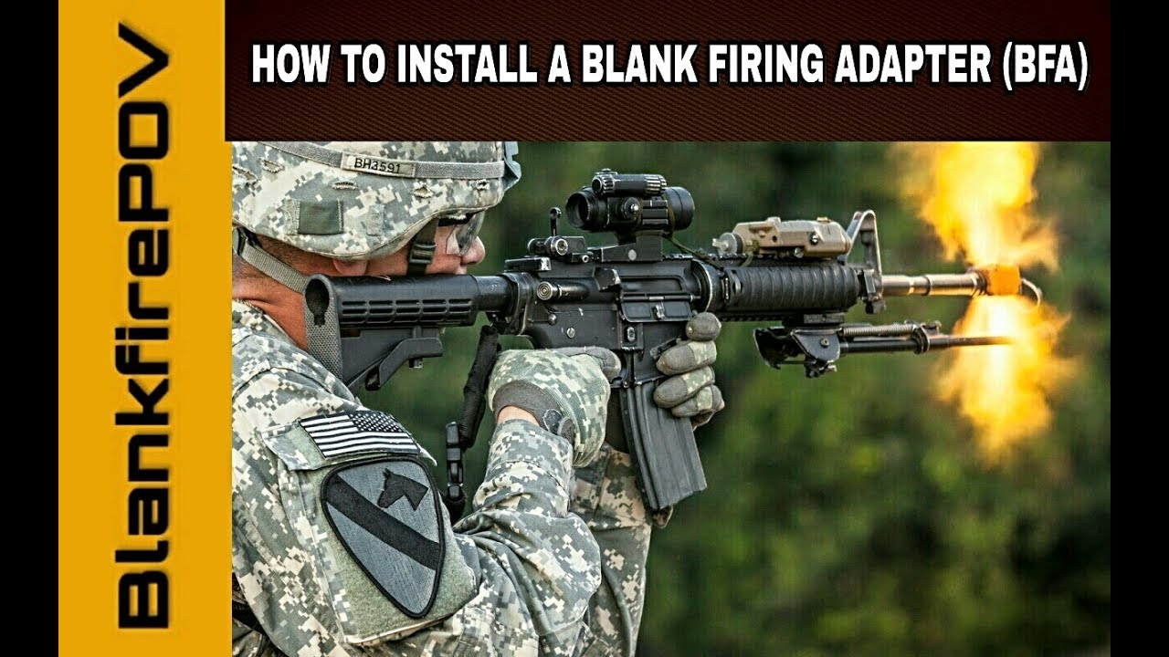 How To Install A Hollywood Blank Firing Adapter Bfa On