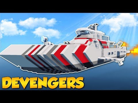 TSUNAMI SURVIVAL IN FLYING SHIP! - Stormworks Multiplayer Gameplay - Sinking Ship Survival
