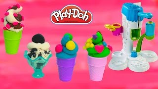 Playdoh Perfect Twist Ice Cream Maker Sweet Shoppe Playset Play-doh Food Candy Cookieswirlc