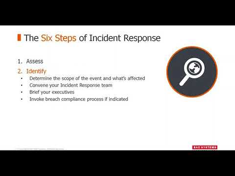Webinar Preparing for Incident Response and the Business Defense Assessment  BAE Systems  Cyber Secu