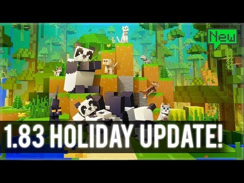 Minecraft PS4 - 1.83 PANDAS HOLIDAY UPDATE! (Secret Features Hunt!)
