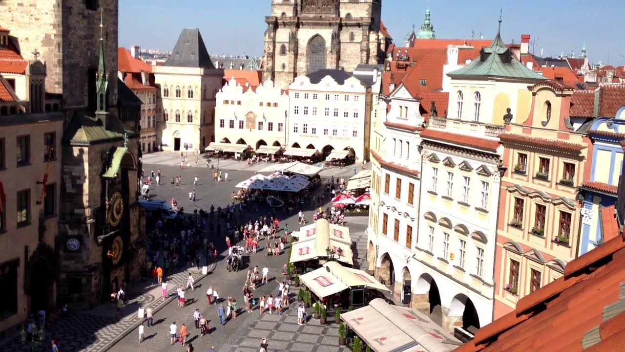 View from hotel u prince prague czech republic youtube for Terrace u prince prague