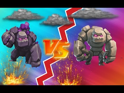 CLASH OF CLANS - GOLEM VS GOLEM