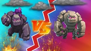 "CLASH OF CLANS - GOLEM VS GOLEM ""MUST WATCH"""
