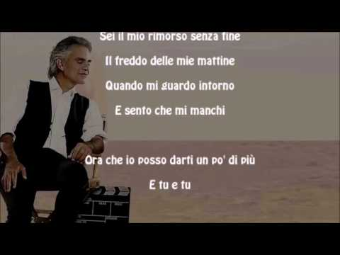Mi Manchi - Andrea Bocelli & Kenny G - With Lyrics