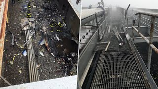 Download Helicopter Crash-Lands on Midtown Manhattan High-Rise Roof; 1 Dead   NBC New York Mp3 and Videos