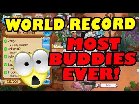 ANIMAL JAM WORLD RECORD: MOST BUDDIES EVER!