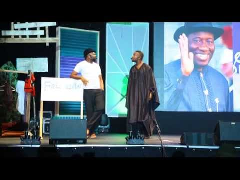 Video (stage play): Okey bakassi and Yaw Perform a Stage Play