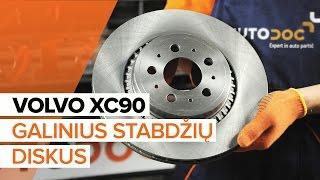Kaip pakeisti galiniai stabdžių diskai ir galinių stabdžių kaladėlės VOLVO XC90 1 [PAMOKA]
