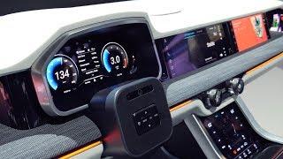 Автомобильная система Samsung с 9 экранами