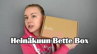 HEINÄKUUN BETTE BOX 2019 | Unboxing
