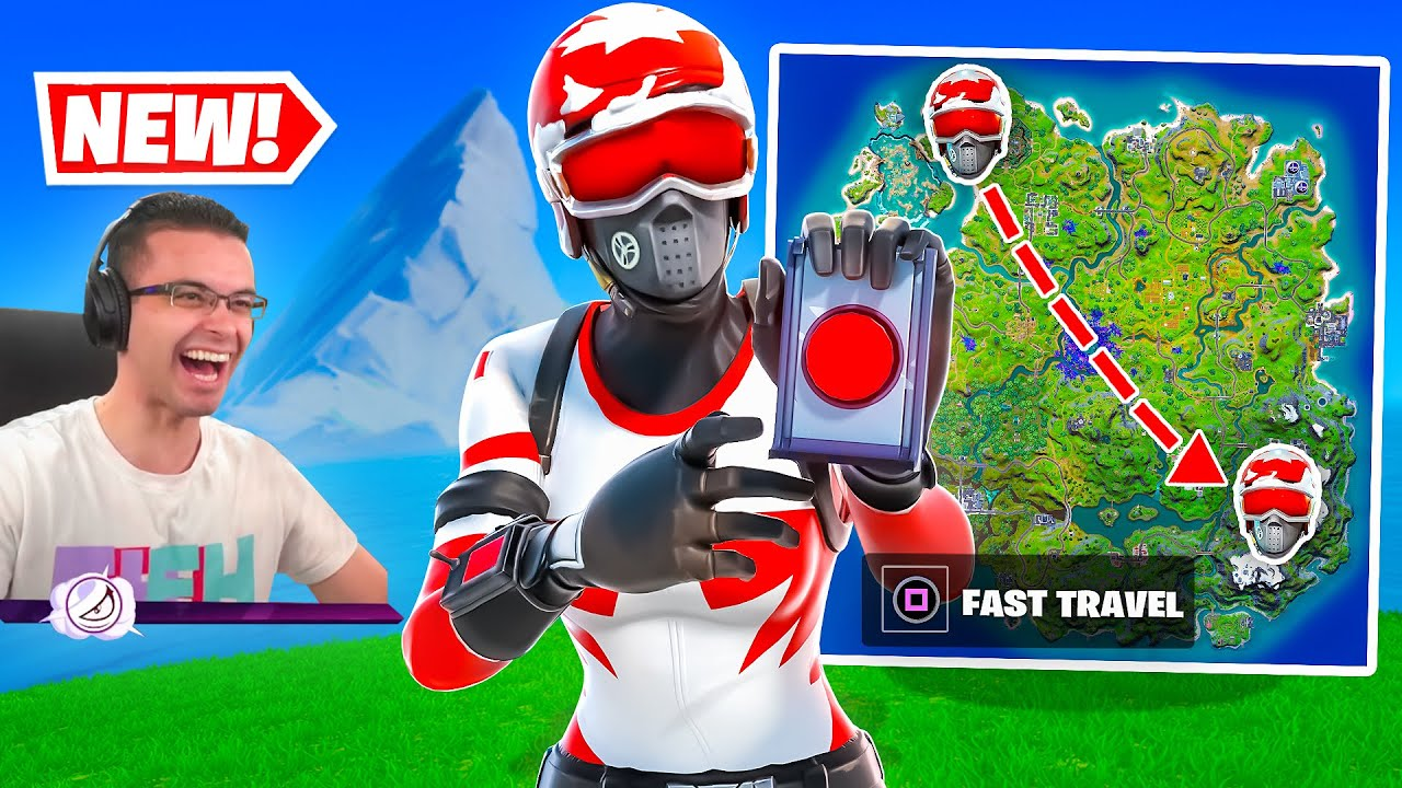 Fortnite added a NEW *Fast Travel*