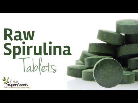 All About Raw Spirulina Tablets - LiveSuperFoods.com