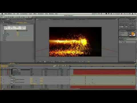After Effects tutorials Sparks Title Sequence Using CC Particle World Part 11