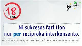 50 frases em Esperanto com a preposição 'per'