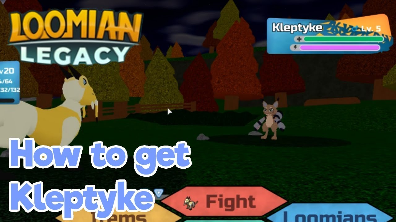 Loomian Legacy How To Catch Kleptyke Roblox Youtube