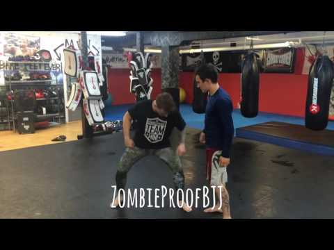 Flying Scissor Takedown Details Part 1 & 2 - ZombieProof Brazilian Jiu-Jitsu / Nogi Techniques