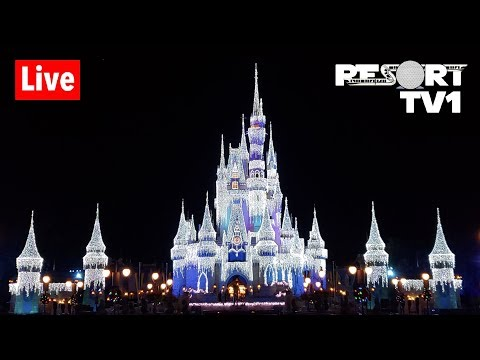 🔴Live: Magic Kingdom at Christmas - 12-8-18 - Walt Disney World Live Stream