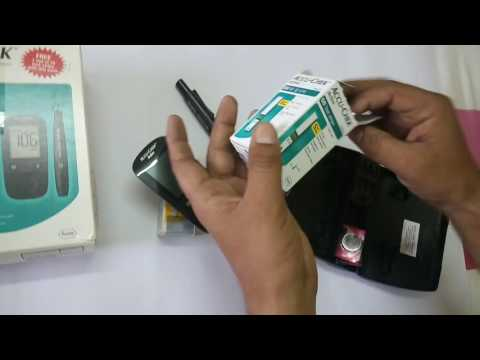 How To Use Accu-chek Active Blood Glucose Meter In Hindi