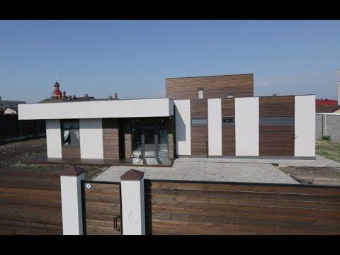 Каркасный дом с плоской кровлей. Объект #skprof_Улитка