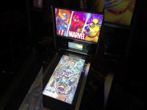 Arcade1up Marvel Pinball: Venom Table Gameplay 60FP from Kelsalls Arcade