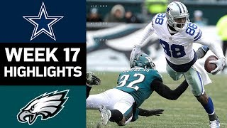 Cowboys vs Eagles  NFL Week 17 Game Highlights