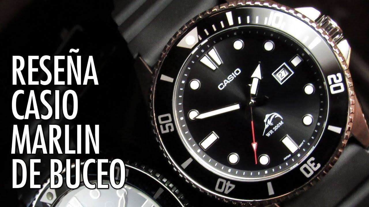 78aacfe84004 Reseña Casio Marlin   Duro MDV-106 Reloj de Buceo en Español - YouTube
