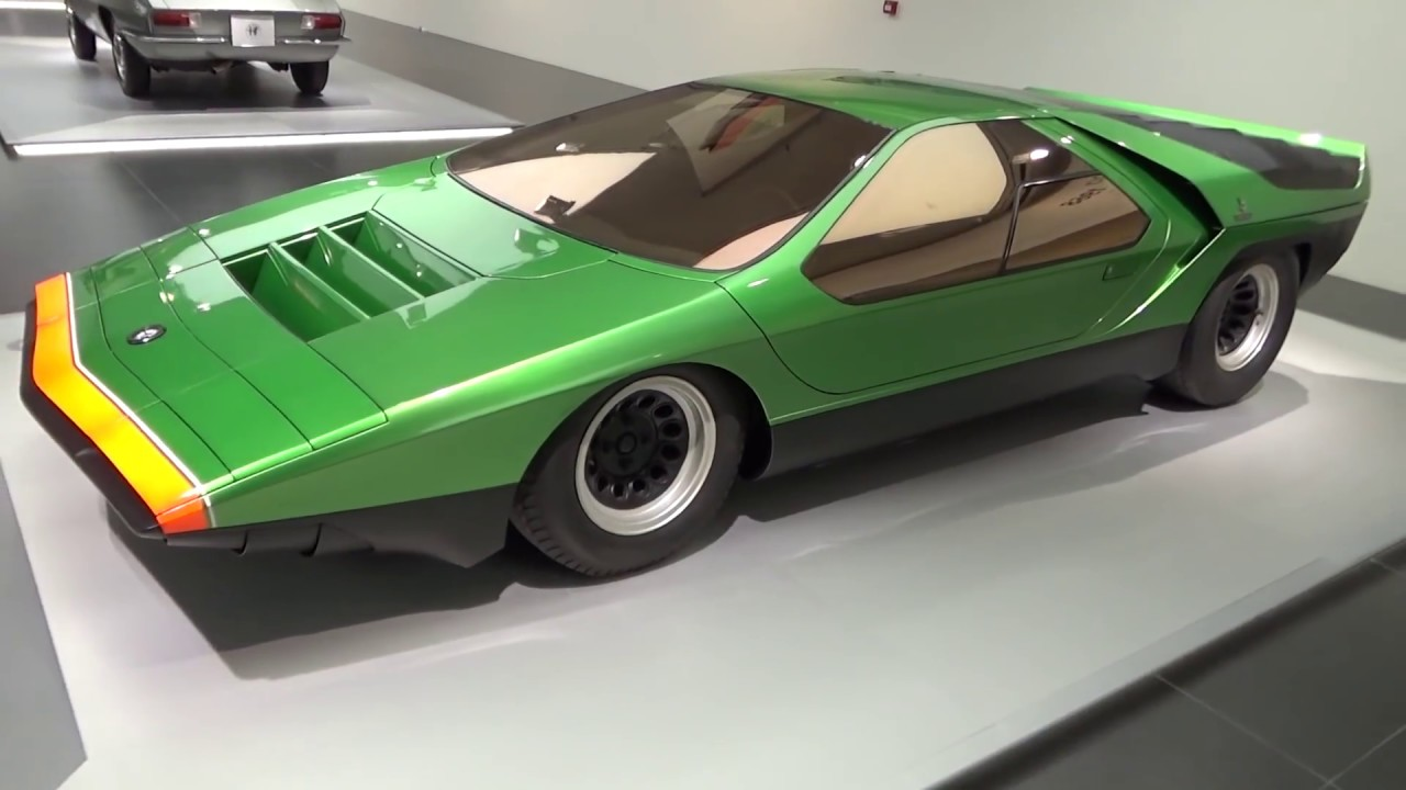 alfa romeo 33 bertone carabo alfa romeo museum arese lombardy italy europe youtube. Black Bedroom Furniture Sets. Home Design Ideas