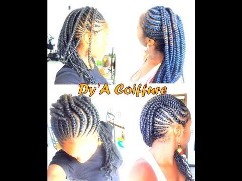 DIY ☆ Tresses en écailles sur soi,même / Ghana cornrows , By Dy\u0027A