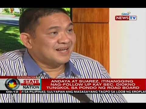 Diokno: Maraming kongresista kabilang sina Andaya at Suarez, nag-follow sa pondo ng Road Board