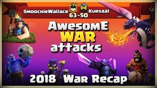 SmoochieWallace Vs Kursaal | TH11 War Recap #37 | Clash Of Clans | 2018 |