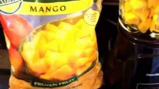 Costco Organic Mango Smoothie with Frozen Banana - One Minute Recipes