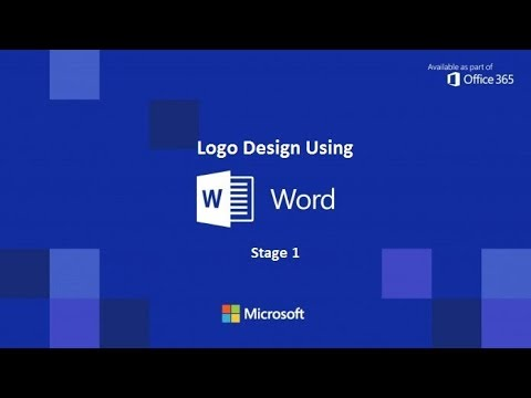 part 1 design any logo with microsoft word 2017 youtube
