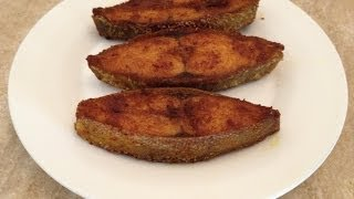 Fish Recipes - Fish Fry  Indian Style -  Pomfret Fry
